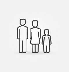 family simple icon vector image vector image