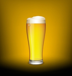 Glass of beer vector image