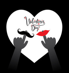 happy valentines day greeting design vector image vector image