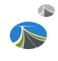 Long highway and blue sky icon vector image