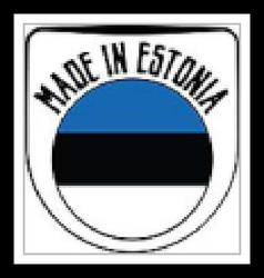 Made in Estonia rubber stamp vector image vector image