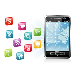 mobile smartphone vector image vector image
