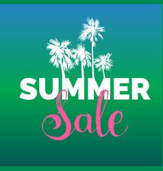 summer sale lettering background season vector image vector image