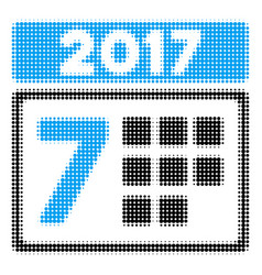 2017 year 7th day halftone icon vector