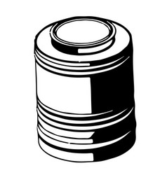3d model of barrel on a white vector image