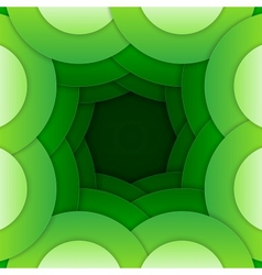 Abstract green round shapes background vector