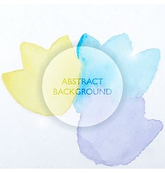 abstract watercolor blue and yellow flowers vector image