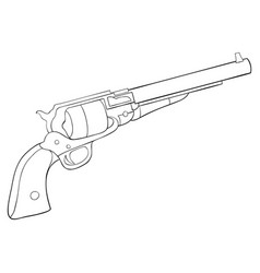 Adult coloring bookpage a cute gun image for vector