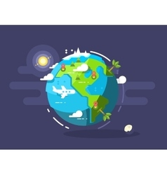 aircraft flying around world vector image