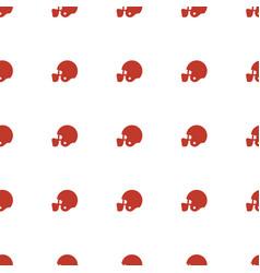 American football helmet icon pattern seamless vector