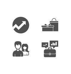 Audit couple and gifts icons business portfolio vector