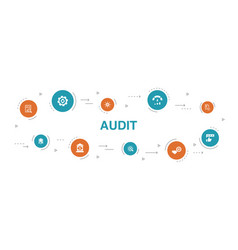 Audit infographic 10 steps circle design review vector