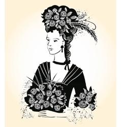 Black Elegant Lady vector