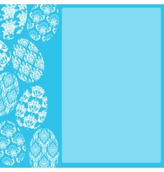 Blue Easter Frame vector image