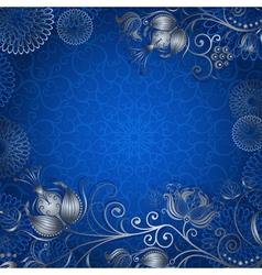 Blue vintage frame vector