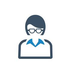 Businesswoman avatar icon vector