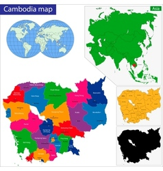 Cambodia map vector image