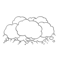 cartoon drawing of empty text or speech bubbles vector image