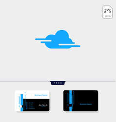 cloud creative logo template get free business vector image