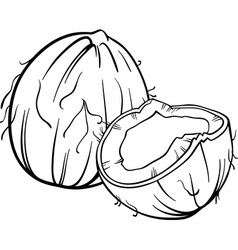 coconut for coloring book vector image