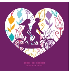 colorful tulip flowers couple on tandem vector image