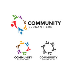 community people logo icon design template vector image