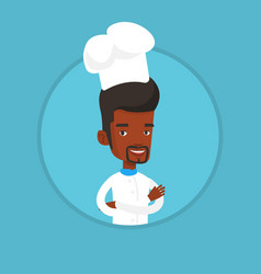 confident male chief cooker with arms crossed vector image