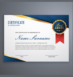 creative certificate of appreciation award vector image
