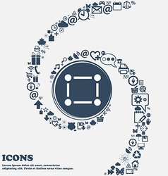 Crops and Registration Marks icon sign in the vector