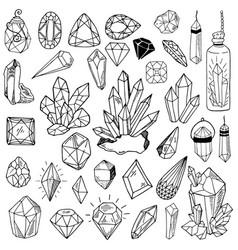 crystals set vector image