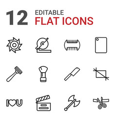 cut icons vector image