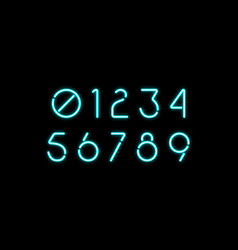 decorative numbers with neon effect vector image