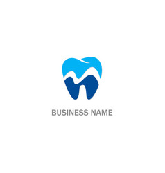 dental sign logo vector image