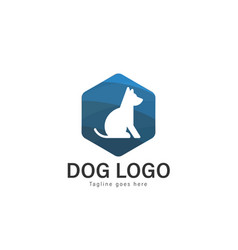 dog logo design modern dog logo template isolated vector image
