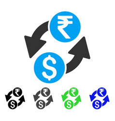 Dollar rupee exchange flat icon vector
