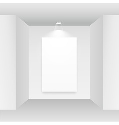 empty picture frame on white background vector image
