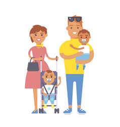 Family people adult happiness smiling group vector