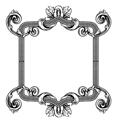 Floral label frame 2 vector