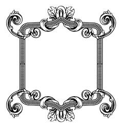 Floral label frame 2 vector image