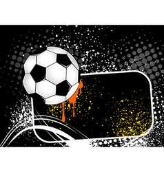 Football background with the ball wings vector image