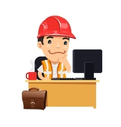 Foreman at his Desk vector