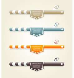 Four colored web banners vector image