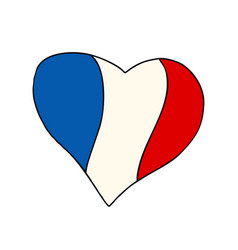 france heart patriotic symbol vector image