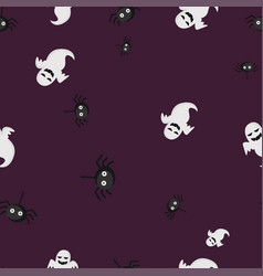 Ghost spider halloween pattern seamless color vector