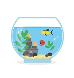 Glass Aquarium for Interior Home vector