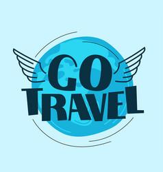 Go travel logo with earth vector