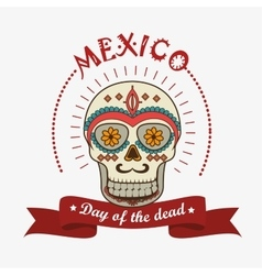 Icon day of the dead mexican design isolated vector