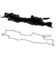 Java island map vector