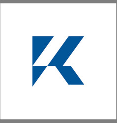 k logo initials letter sign and symbol vector image