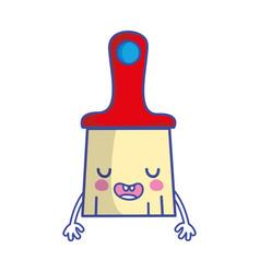 kawaii cute funny brush object vector image